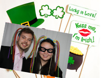 Open photo booth - great for St Patrick's Day!