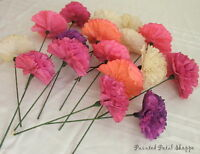 Custom Dyed Coffee Filter Flowers/ party decor/ wedding decor