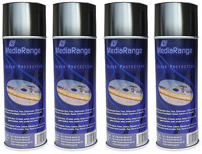 4 x MediaRange Color Protection Spray 400 ml Schutz Colour Spray Fixierspray