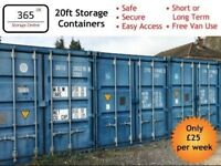 Secure Container Storage - Household Vehicles Business Tools Materials Self Storage 20ft Unit