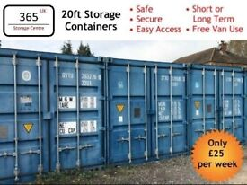 Secure Container Storage - Household Vehicles Business Tools Self Storage 20ft Container Unit