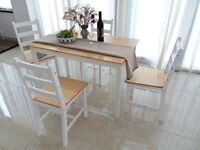 Dining Table+ 4 Chairs + Large bench