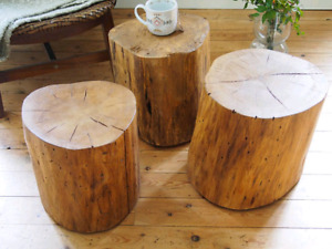 Log Stool |  Accent table for Sale Milton
