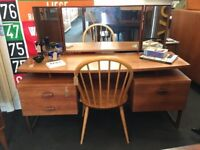 1960's G Plan Quadrille Desk/Dressing Table in Teak. Vintage/Retro/Mid Century