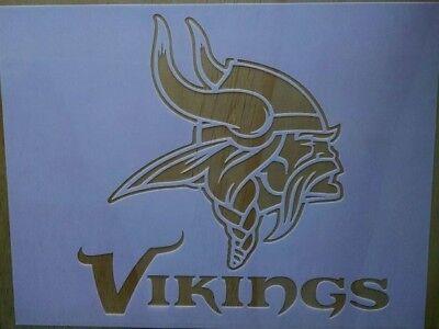 Vikings Stencil 9x12