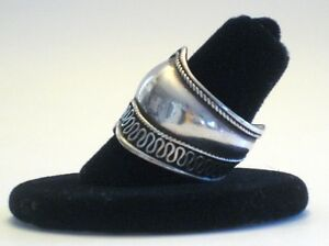 Vintage Sterling Silver Cigar Band Ring a Great Ring From 1960's