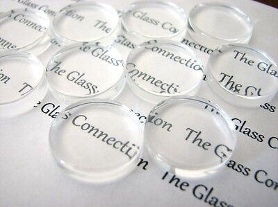 Clear Glass Cabochons Round Cabochons Clear Round Cabochons 25mm 20pcs Flat