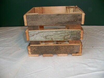 Barnwood Rustic wood crate wedding decoration box centerpieces K&D CobbleShop