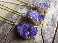 LOST Raw Amethyst Necklace