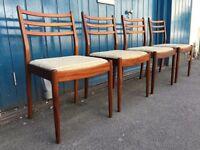Set of Four 1960's G Plan Fresco Teak Dining Chairs. Vintage/Retro/Mid Century