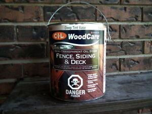 CIL oil stain semi-trans. Fence, Siding, Deck