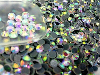 1440pcs Hot-Fix Iron-On Flat-Back Beads Rhinestones Multi Color & Size (China Flat)
