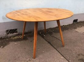 1960's original Ercol drop leaf Dining Table. Vintage/Retro/Mid Century
