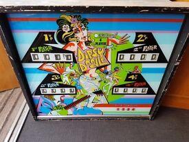 Vintage 1960s/1970s Pinball Machine Top. Original Fascia. Quirky/Interiors