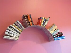 Custom Sun wall book shelf