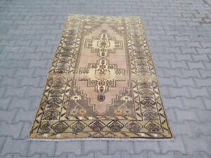 Vintage Muted Turkish Oushak Rug