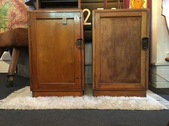 1950s Staverton Air Ministry Cabinets/Lockers/Record Cabinets. Vintage/Storage