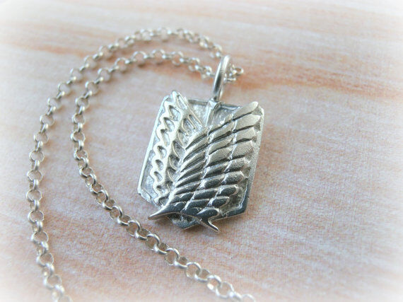 Attack On Titan Silver Necklace Scout Regiment Shingeki No Kyojin Necklace