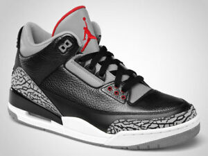 DS Air Jordan 3 Black Cement - Size 9