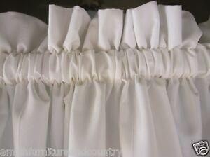 Farmhouse White 100 Cotton Muslin Valance Curtains