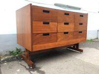 1960s Shop Display Cabinet/Haberdashery Unit in Mahoganhy. Vintage/Retro/Mid Century