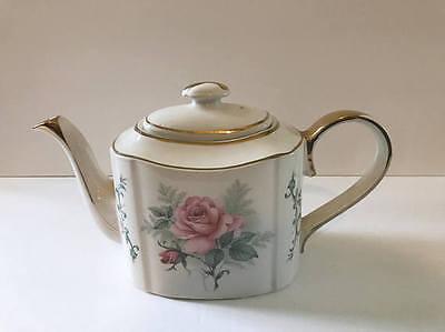 Vintage Arthur Wood Haddon Floral Rose Porcelain China TEA POT Made in ENGLAND