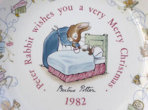 Peter Rabbit – 1982 Peter Rabbit-Christmas Plate by Wedgwood