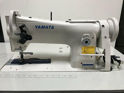 Yamata 206rb Triple Feed Upholstery Walking Foot Sewing Machine - Head Only