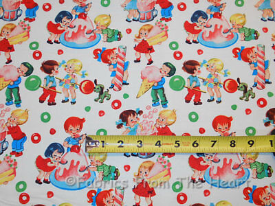 Retro Candy Shop Kids Sweets YARDS on Cream off White Michael Miller Cotton Fabr](Michaels Craft Shop)