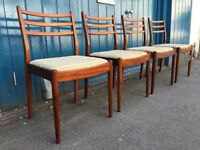 Set of Four Teak Dining/Kitchen Chairs