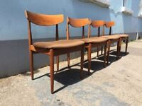 Set of Four 1960s Teak Dining Chairs by G Plan. Vintage/Retro/Mid Century