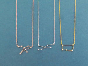 Cubic, Zodiac 12 signs, Gold, Silver, Rose gold, Necklace