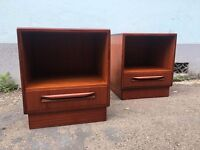 Pair of 1960's G Plan Fresco Bedside Cabinets/Tables. Vintage/Retro/Mid Century