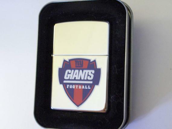 Retire New York Giants Shield Zippo Lighter