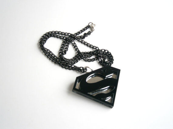 Superman black Necklace