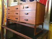 1960s G Plan 'Quadrille' Sideboard/Dressing Table. Vintage/Retro/Mid Century.