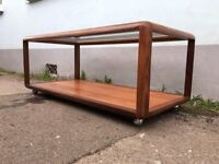 Rare 1960s G Plan Teak and Glass Oblong Coffee Table. Vintage/Retro/Mid-Century