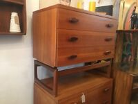 1960s G Plan 'Quadrille' Chest of Drawers/Dressing Table. Vintage/Retro/Mid Century.