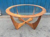 1960s G Plan Astro teak and glass Coffee Table. Vintage/Retro/Mid Century