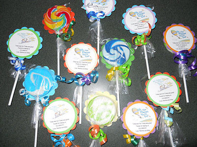 24 Oh the Places We Will Go Baby Shower Birthday Whirly Pops Hard Lollipop - Whirly Pop Lollipop