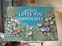 Selection of Original Acrylic Christian Paintings