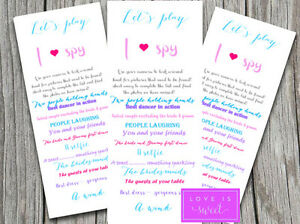 3 x Wedding I Spy Game Disposable Camera Bride Groom  Favour Cards