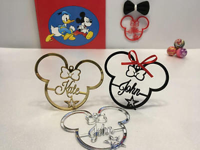 Personalized Any Name Mickey Mouse Minnie Ears Tree Ornament Disney Xmas Gifts (Personalized Mickey Ears)