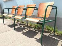 1950s Stadium/Cinema/Theatre Seats. Run of Four. Vintage/French/Interiors.