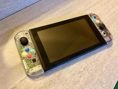 New Custom Clear Clear Nintendo Switch Console & Joycons (FULL SYSTEM)