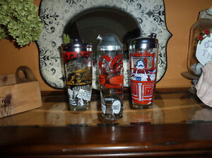 Hazel Atlas Cocktail Shakers and Glass