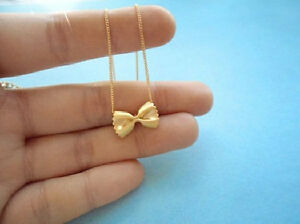 Cute, Pasta, Necklace, Farfalle, Gold, Silver, Necklace