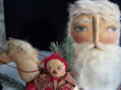 PATTERN for old time Santa, Christmas decor, by Dumplinragamuffi
