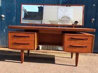 1960s G Plan Fresco Floating Desk / Dressing Table. Vintage/Retro/Mid Century