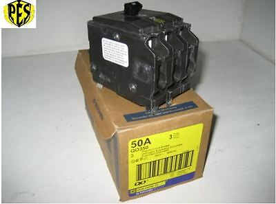 Square D Qo Qo350 3 Pole 50 Amp Breaker 3 Pole 50 Amp 240v Qo